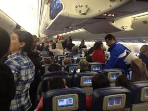 dentro do aviao